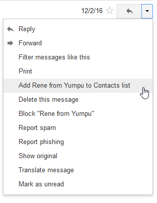 add to gmail contacts list
