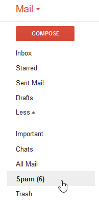 gmail spam folder
